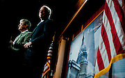 """Aug 3, 2010 - Washington, District of Columbia, U.S., - Sen. TOM COBURN, (R-Okla.) , left, and Sen. JOHN MCCAIN, (R-Ariz.) during a press conference to unveil a new report, """"Summertime Blues: 100 Stimulus Projects that give Taxpayers the Blues during the Summer of Recovery."""".(Credit Image: © Pete Marovich/ZUMA Press)"""