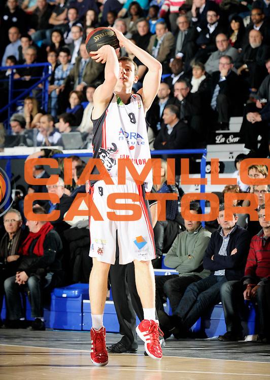 DESCRIZIONE : Championnat de France Pro A Semaine des As Roanne Demi Finale<br /> GIOCATORE : Lang Nicolas<br /> SQUADRA : Chalon <br /> EVENTO : Pro A Semaine des As<br /> GARA : Chalon Nancy<br /> DATA : 18/02/2012<br /> CATEGORIA : Basketball France Homme<br /> SPORT : Basketball<br /> AUTORE : JF Molliere<br /> Galleria : France Basket 2011-2012 Action<br /> Fotonotizia : Championnat de France Basket Pro A Semaine des As<br /> Predefinita :