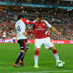 Sead Kolasinac of Arsenal protects the ball during Western Sydney Wanderers vs Arsenal, Preseason Friendly , 15.07.17 (c) Harriet Lander | SportPix.org.uk