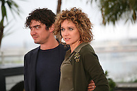Producer, Ricardo Scamacio and Director Valeria Golino at the Miele film photocall at the Cannes Film Festival 18th May 2013
