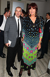 JANET STREET-PORTER and NEIL TENNANT at a dinner hosted by Arnaud Bamber MD of Cartier, Amanda Sharp and Matthew Slotover Directors of the Frieze Art Fair to celebrate artists featured in the 2005 Frieze Art Fair Curatorial Programme at Nobu-Berkeley, 15th Berkeley Street, London on 21st October 2005.<br />