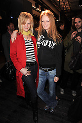 Left to right, ALEXIA INGE and OLIVIA INGE at the Lee store re-launch party held at 13-14 Carnaby Street, London on 31st March 2010.