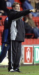 WIGAN, ENGLAND - Tuesday, January 4, 2005: Wolverhampton Wanderers' manager Glen Hoddle during his side's 2-0 defeat by Wigan Athletic during the League Championship match at the JJB Stadium. (Pic By Dave Kendall/Propaganda)