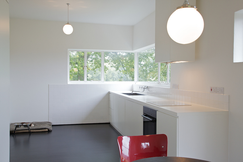 The kitchen at Warren House, Wayne McGregor's Dartington Estate home in Devon<br /> Vanessa Berberian for The Wall Street Journal