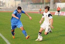 Matija Sirok #8 of Gorica vs. Damjan Bohar #9 of Mura 05 during football match between ND Gorica and ND Mura 05 in 20th Round of PrvaLiga NZS 2012/13 on November 24, 2012 in Nova Gorica, Slovenia. (Photo By Ales Cipot / Sportida).