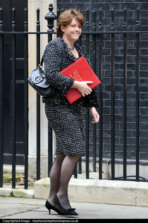 © Licensed to London News Pictures. 23/10/2012. Westminster, UK Culture Secretary Maria Miller. Ministers attend a Cabinet Meeting in 10 Downing Street today 23 October 2012. Photo credit : Stephen Simpson/LNP