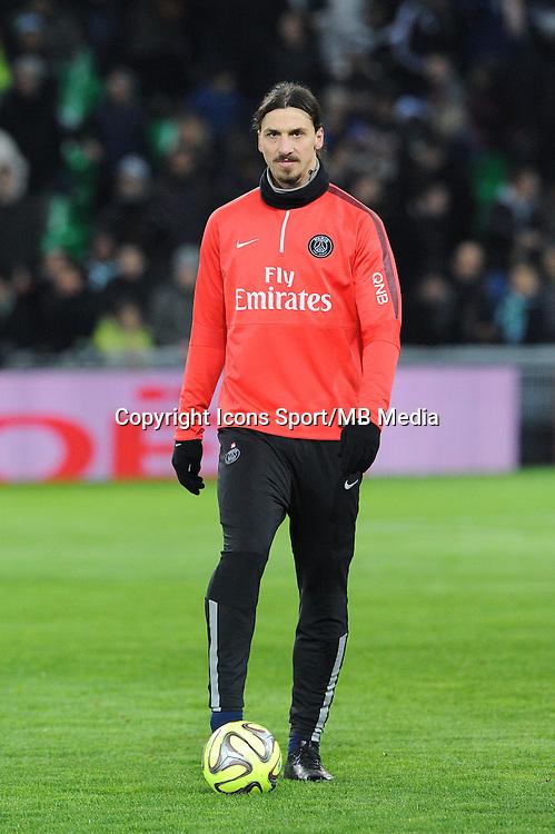 Zlatan IBRAHIMOVIC - 25.01.2015 - Saint Etienne / PSG - 22eme journee de Ligue1<br /> Photo : Jean Paul Thomas / Icon Sport