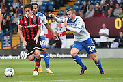Shrewsbury Town Midfielder, Louis Dodds (10) and Bury Defender, Niall Maher (22) during the EFL Sky Bet League 1 match between Bury and Shrewsbury Town at the JD Stadium, Bury, England on 10 September 2016. Photo by Mark Pollitt.