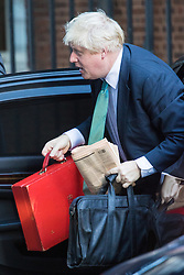 Downing Street, London, October 11th 2016. Government ministers arrive for the first post-conference cabinet meeting. PICTURED: Foreign and Commonwealth Secretary Boris Johnson.