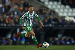 February 28, 2019 - Valencia, Valencia, Spain - Lo Celso of Betis controls the ball during the Copa del Rey Semi Final match second leg between Valencia CF and Real Betis Balompie at Mestalla Stadium in Valencia, Spain on February 28, 2019. (Credit Image: © Jose Breton/NurPhoto via ZUMA Press)