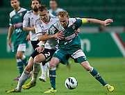 (L) Legia's Artur Jedrzejczyk fights for the ball with (R) Sebastian Mila of Slask Wroclaw during soccer Polish Cup Final between Legia Warsaw and Slask Wroclaw at Pepsi Arena in Warsaw, Poland...Poland, Warsaw, May 08, 2013..Picture also available in RAW (NEF) or TIFF format on special request...For editorial use only. Any commercial or promotional use requires permission...Photo by © Adam Nurkiewicz / Mediasport