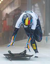 15.12.2017, Olympia Eisbahn, Igls, AUT, BMW IBSF Weltcup und EM, Igls, Sekeleton Damen, 1. Lauf, im Bild Kim Meylemans (BEL) // Kim Meylemans of Belgium during 1st run of women's Skeleton competition of BMW IBSF World Cup and European Championship at the Olympia Eisbahn in Igls, Austria on 2017/12/15. EXPA Pictures © 2017, PhotoCredit: EXPA/ Johann Groder