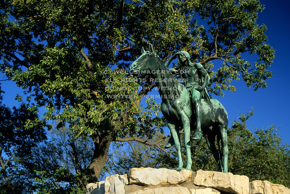 Image of the Kansas City Scout statue in Kansas City, Missouri, America Midwest