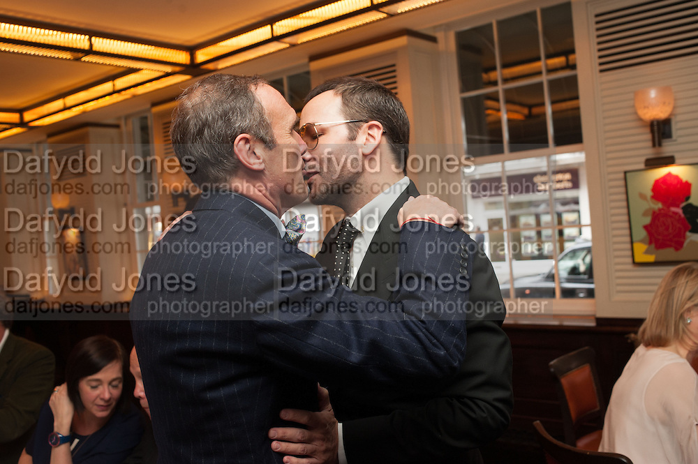 A.A.GILL; TOM FORD, Vanity Fair Lunch hosted by Graydon Carter. 34 Grosvenor Sq. London. 14 May 2013