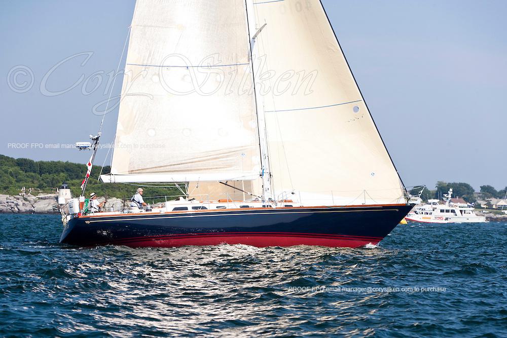 Kiva, class 14, sailing at the start of the Newport Bermuda Race 2010. The race began in Newport, Rhode Island on June 18, 2010.