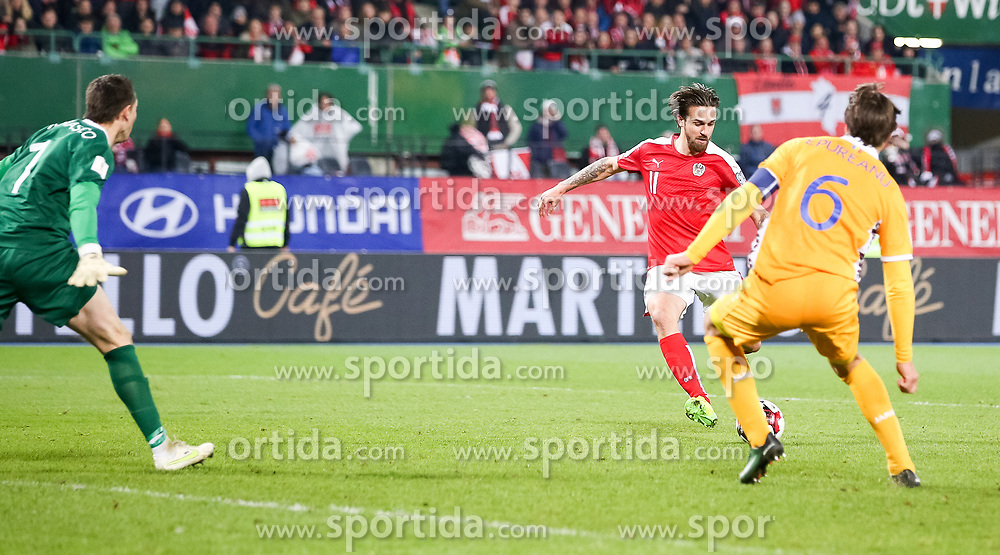 24.03.2017, Ernst Happel Stadion, Wien, AUT, FIFA WM 2018 Qualifikation, Oesterreich vs Moldawien, Gruppe D, im Bild Tor zum 2:0 durch Martin Harnik (AUT) // during the FIFA World Cup 2018, group D qualifying match between Austria and Moldova at the Ernst Happel Stadion in Wien, Austria on 2017/03/24. EXPA Pictures © 2017, PhotoCredit: EXPA/ Alexander Forst