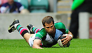 London - Saturday, 5th September, 2009: Gonzalo Camacho of Harlequins scores a try during the Guinness Premiership match at Twickenham, London. ..(Pic by Alex Broadway/Focus Images)