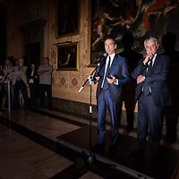 Milano, Italy - 21-06-2016: The handover ceremony between Giuliano Pisapia and the new mayor of Milan Giuseppe Sala at Palazzo Marino