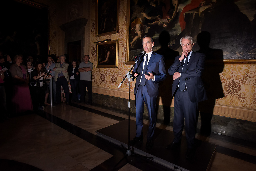Milano, Italy - 21-06-2016: The handover ceremony between Giuliano Pisapia and the new mayor of Milan Giuseppe Sala at Palazzo Marino