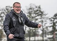FODBOLD: Cheftræner Claus Larsen (Karlslunde IF) under kampen i Danmarksserien mellem Karlslunde IF og Fredensborg BI den 4. november 2017 på Karlslunde Stadion. Foto: Claus Birch