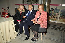 Left to right, LORD & LADY WEIDENFELD and LADY ANTONIA FRASER at the Orion Publishing Group Author Party held at the V&A, London on 18th February 2009.