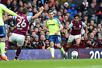 Aston Villa v Derby County - Sky Bet Championship<br /> BIRMINGHAM, ENGLAND - APRIL 28 :  Andreas Weimann, of Derby County, is closed down by Aston Villa's, John Terry