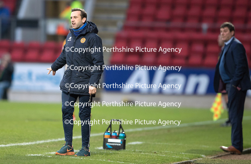 St Johnstone v Motherwell&Ouml;17.12.16     McDiarmid Park    SPFL<br /> Motherwell assistant James McFadden<br /> Picture by Graeme Hart.<br /> Copyright Perthshire Picture Agency<br /> Tel: 01738 623350  Mobile: 07990 594431