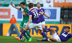 09.11.2014, Ernst Happel Stadion, Wien, AUT, 1. FBL, SK Rapid Wien vs FK Austria Wien, 15. Runde, im Bild Thanos Petsos (SK Rapid Wien) und Lukas Rotpuller (FK Austria Wien) // during a Austrian Football Bundesliga Match, 15th Round, between SK Rapid Vienna and FK Austria Vienna at the Ernst Happel Stadion, Wien, Austria on 2014/11/09. EXPA Pictures © 2014, PhotoCredit: EXPA/ Thomas Haumer