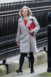 London, January 16 2018. Chief Secretary to the Treasury Elizabeth Truss attends the UK cabinet meeting at Downing Street. © Paul Davey