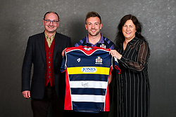 Andy Uren of Bristol Rugby poses with his sponsors during the Bristol Sport player sponsor evening - Rogan/JMP - 19/03/2018 - SPORT - Ashton Gate Stadium - Bristol, England - Big Sports Breakfast 2017.