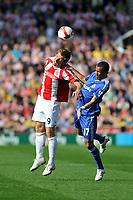 Photo: Tony Oudot/Richard Lane Photography. Stoke City v Chelsea. Barclays Premier League. 27/09/2008. <br /> Richard Cresswell of Stoke heads the ball clear of Jose Bosingwa of Chelsea