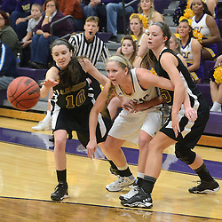 Staff photos by Tom Kelly IV<br /> West Chester's Brittany Sicinski (21) fights for a loose ball with Bloomsburg's Taylor Kaminski (10) and Catherine Noack (15) during the Bloomsburg at West Chester University women's basketball game Saturday January 18, 2014.