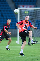 OSLO, NORWAY - Monday, September 3, 2001: Wales' John Hartson during training at the Ullevaal Stadion in Oslo ahead of his side's FIFA World Cup 2002 Qualifying Group 5 match against Norway. (Pic by David Rawcliffe/Propaganda)