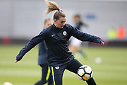 Manchester City Women's midfielder Jill Scott (8) during the FA Women's Super League match between Manchester City Women and Brighton and Hove Albion Women at the Sport City Academy Stadium, Manchester, United Kingdom on 27 January 2019.