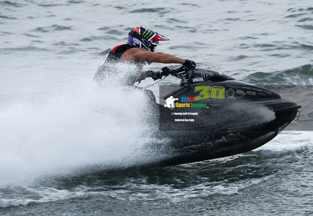 PATTAYA, THAILAND - DECEMBER 09: Chris Macclugage (30) of USA and Freedom Racing Jet Ski Team in action during the Pro Sport GP Moto4 at the Thai Airways International Jet Ski World Cup 2018, Jomtien Beach, Pattaya, Thailand on December 09, 2018. <br /> .<br /> .<br /> .<br /> (Photo by: Naratip Golf Srisupab/SEALs Sports Images)<br /> .<br /> Any image use must include a mandatory credit line adjacent to the content which should read: Naratip Golf Srisupab/SEALs Sports Images