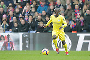 Chelsea goal scorer, midfielder Ngolo Kante (7), during the Premier League match between Crystal Palace and Chelsea at Selhurst Park, London, England on 30 December 2018.