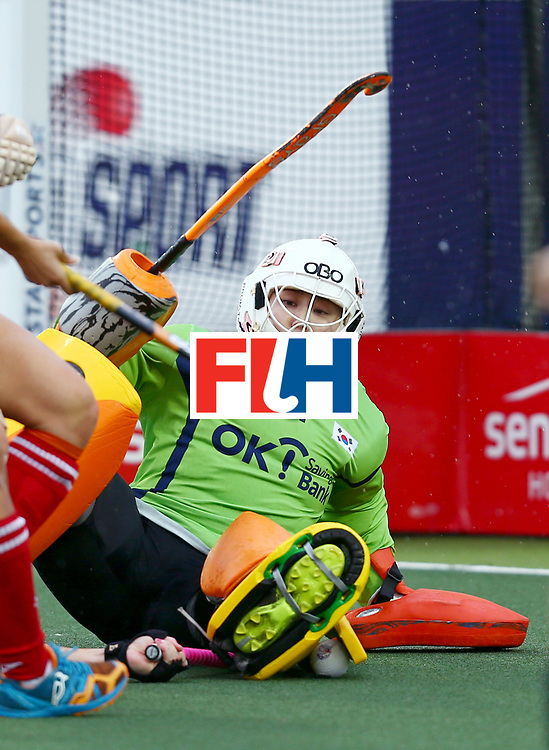 New Zealand, Auckland - 18/11/17  <br /> Sentinel Homes Women&rsquo;s Hockey World League Final<br /> Harbour Hockey Stadium<br /> Copyrigth: Worldsportpics, Rodrigo Jaramillo<br /> Match ID: 10295 - NZL vs KOR<br /> Photo: (1) JANG Soo Ji&nbsp;(GK)