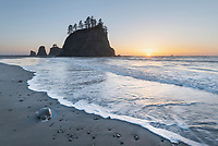 Little James Island sunset, Olympic National Park Washington