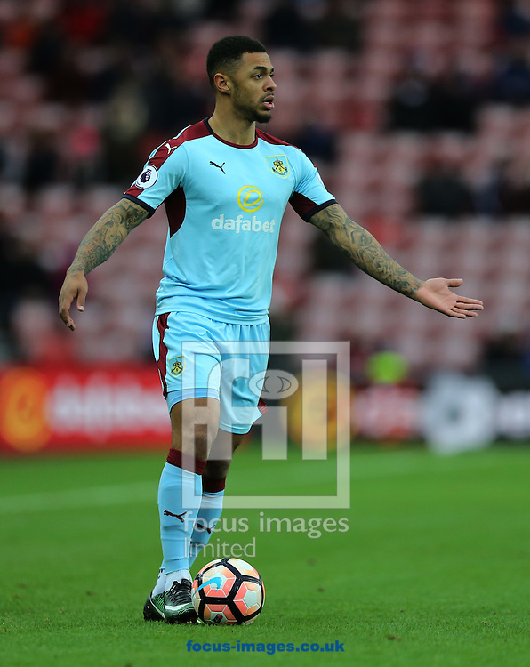 Andre Gray of Burnley during the third round of the FA Cup at the Stadium Of Light, Sunderland<br /> Picture by Simon Moore/Focus Images Ltd 07807 671782<br /> 07/01/2017
