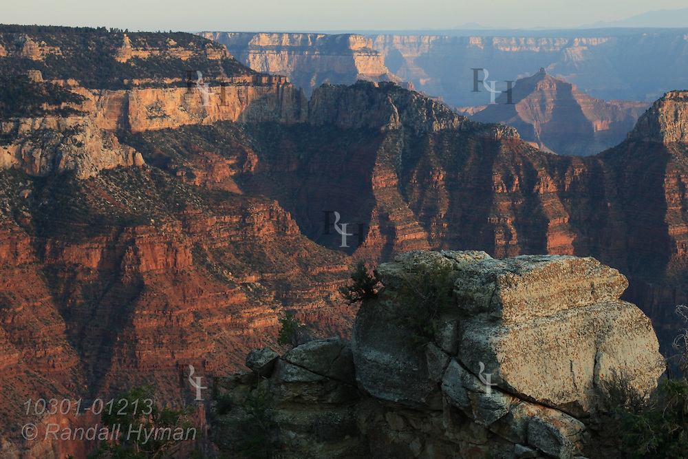 September sunset, Bright Angel Point, North Rim, Grand Canyon National Park, Arizona.