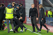 Livingston manager Gary Holt turns away at the final whistle of the 4th round of the William Hill Scottish Cup match between Heart of Midlothian and Livingston at Tynecastle Stadium, Edinburgh, Scotland on 20 January 2019.