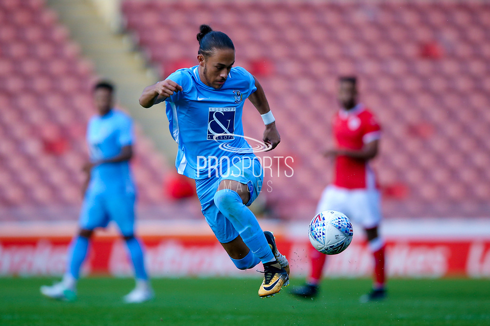 Coventry City midfielder Jodi Jones (11) in action  during the Pre-Season Friendly match between Barnsley and Coventry City at Oakwell, Barnsley, England on 18 July 2017. Photo by Simon Davies.