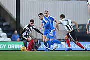 Notts County midfielder Nathan Thomas(10) and Grimsby Town player Elliot Embleton (22) during the EFL Sky Bet League 2 match between Grimsby Town FC and Notts County at Blundell Park, Grimsby, United Kingdom on 22 December 2018.