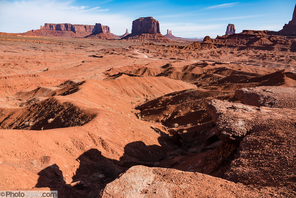 Merrick Butte seen from John Ford's Point. Monument Valley Navajo Tribal Park, Arizona, USA.