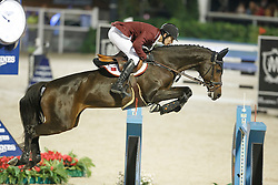 Al Emadi Khalid Mohammed, (QAT), Tamira IV, FEI President<br /> Logines Challenge Cup<br /> Furusiyya FEI Nations Cup Jumping Final - Barcelona 2015<br /> © Dirk Caremans<br /> 25/09/15