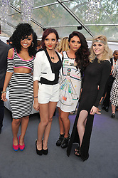 Left to right, Leigh-Anne Pinnock, Jade Thirwell, Perrie Edwards and Jesy Nelson of Little Mix at the Glamour Women of the Year Awards 2012 in association with Pandora held in Berkeley Square Gardens, London W1 on 29th May 2012.