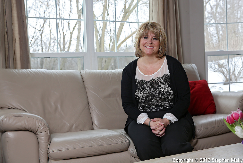 Kim Bro at her home in Cedar Rapids on Monday, February 25 2013.