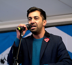 Independence Rally, Glasgow, Saturday 2nd November 2019<br /> <br /> Pictured: Humza Yousaf MSP<br /> <br /> Alex Todd | Edinburgh Elite media