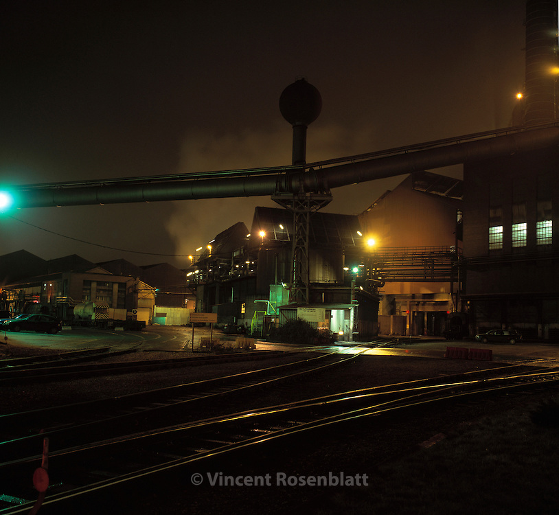 Acierie Cockerill-Sambre / ArcelorMittal - Liege, Belgique.<br /> Steel factory Cockerill-Sambre / ArcelorMittal, Li&egrave;ge, Belgium.