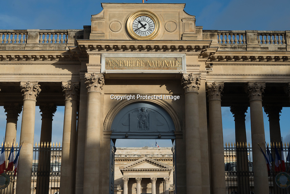 Paris 7th district main gate entrance of the National assembly
